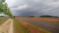 Donkere wolken boven de Meseta