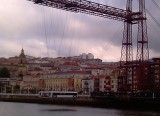 de hangbrug in Getxo: de oudste ter wereld