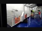 oefenen met de reddingsboot bij de aankomst in Newcastle