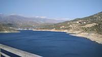 stuwmeer bij de rivier Guadalfeo, bij Orgiva