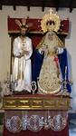 de beelden zijn nog in de kleding van de Goede Week processies