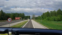 we naderen de grens met Litouwen