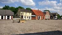 dorpsplein in het openluchtmuseum