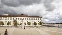 het plein van de universiteit