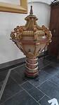 doopvont, kerk is uit de 14e eeuw