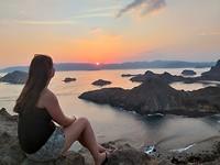 Zonsondergang Padar Island