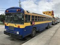Blue bird schoolbus