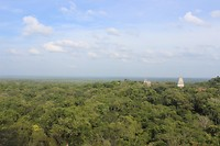 Panorama view vanaf tempel IV