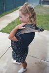 Britt hugging Marshmallow