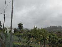 Donkere wolken dus heen uitzicht op Santiago