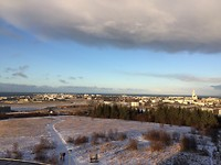 Uitzicht over (een deel van) de stad