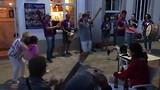 Palas de Rei. Volksmuziek op straat. 2.