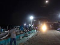 Garnalenvissers bij volle maan
