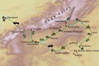 Fietsroute Marokko 2020