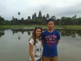 Stijn en Sabien voor Angkor Wat