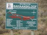 De Baviaanskloof, helaas geen baviaan gezien.