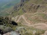 De legendarische Sani Pass, van Lesotho naar Zuid-Afrika.