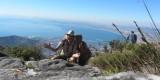 Bovenop de Tafelberg na 3 uur wandelen.