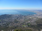 Prachtig uitzicht over Kaapstad.