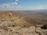 De krater, immense diepte en uitzicht
