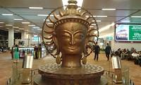 op vliegveld delhi