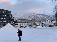 De Tromsö brug die we morgen of overmorgen overgaan