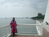 """""""Drijvende"""" moskee op de zee"""