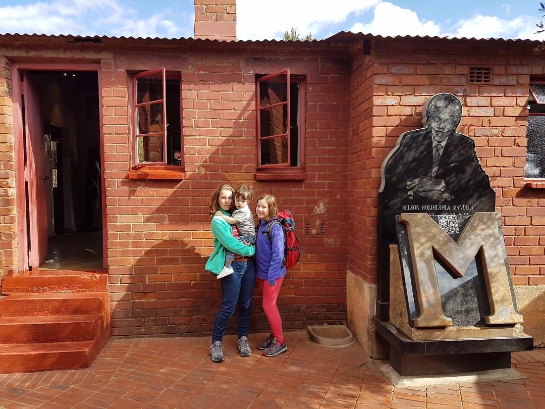 Voor het huis van Nelson Mandela