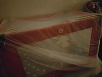 Flynn in baby cot