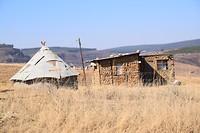 Huisje in village in de Drakensbergen