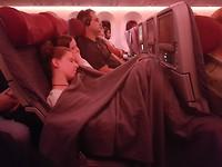 Dames in het vliegtuig..
