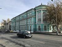 Een van de vele kleurrijke gebouwen in Moskou