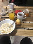 Ontbijtje in ons hostel in Sevilla