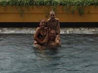 Zwemmen in de regen