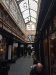Overdekte winkelstraat in Cardiff