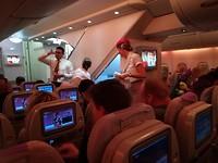In de airbus :)
