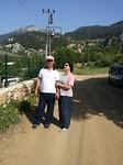 Tuncay met zijn dochter in Hisarçandir