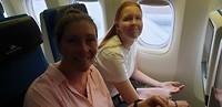 In het vliegtuig!