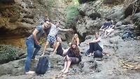 Groepsfoto waterval