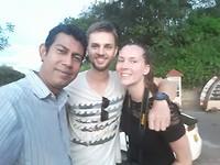 Met de vader van de lieve familie in Kandy