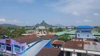 Uitzicht vanaf ons motel