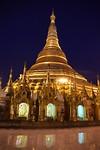 Shwedagon pagoda by night