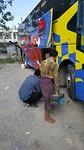 De bus waarvan de remmen niet nodig waren haha