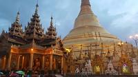 Shwedagon pagoda, bedekt met bladgoud
