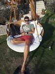 Relaxen bij een resort