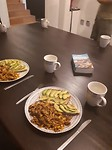 Voor het eerst weer samen gekookt!