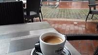Regen op het terras