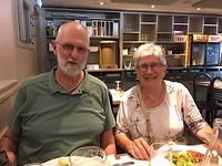 Henk en Mieke tijdens het etentje in L' escale Chateauroux.