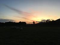 Zonsondergang bij Roncesvalles.