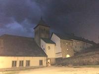 Een onweersbui boven Roncesvalles.